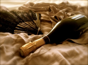 Champagne and Fan